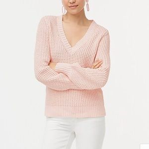 J Crew sz SMALL Pink Textured Cotton Sweater